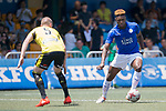 Leicester City (in blue) vs Wellington Phoenix (in yellow), during their Main Tournament match, part of the HKFC Citi Soccer Sevens 2017 on 27 May 2017 at the Hong Kong Football Club, Hong Kong, China. Photo by Marcio Rodrigo Machado / Power Sport Images