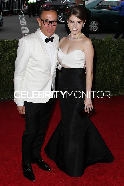 "NEW YORK CITY, NY, USA - MAY 05: Gilles Mendel, Anna Kendrick at the ""Charles James: Beyond Fashion"" Costume Institute Gala held at the Metropolitan Museum of Art on May 5, 2014 in New York City, New York, United States. (Photo by Xavier Collin/Celebrity Monitor)"