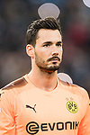 Borussia Dortmund Goalkeeper Roman Burki getting into the field during the Europe Champions League 2017-18 match between Real Madrid and Borussia Dortmund at Santiago Bernabeu Stadium on 06 December 2017 in Madrid Spain. Photo by Diego Gonzalez / Power Sport Images