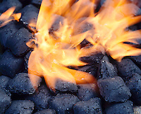 CHARCOAL BRIQUETTES BURNING<br /> Manufactured Coal.<br /> The briquettes produce heat &amp; Carbon dioxide gas.