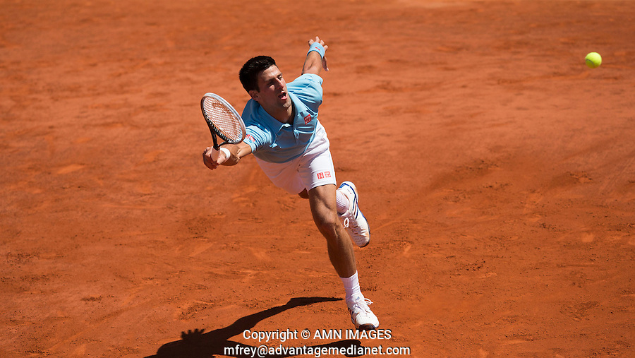 NOVAK DJOKOVIC (SRB)<br /> <br /> Tennis - French Open 2014 -  Toland Garros - Paris -  ATP-WTA - ITF - 2014  - France <br /> 6th June 2014. <br /> <br /> &copy; AMN IMAGES