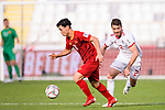 Nguyen Cong Phuong of Vietnam (L) is challenged by Vorya Ghafouri of Iran during the AFC Asian Cup UAE 2019 Group D match between Vietnam (VIE) and I.R. Iran (IRN) at Al Nahyan Stadium on 12 January 2019 in Abu Dhabi, United Arab Emirates. Photo by Marcio Rodrigo Machado / Power Sport Images