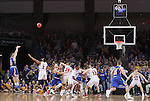 SIOUX FALLS, SD: MARCH 6: Michael Orris #50 of South Dakota State shoots the go ahead shot in the final seconds against South Dakota during the Summit League Basketball Championship on March 6, 2017 at the Denny Sanford Premier Center in Sioux Falls, SD. (Photo by Dave Eggen/Inertia)