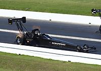 Apr 14, 2019; Baytown, TX, USA; NHRA top fuel driver Mike Salinas during the Springnationals at Houston Raceway Park. Mandatory Credit: Mark J. Rebilas-USA TODAY Sports