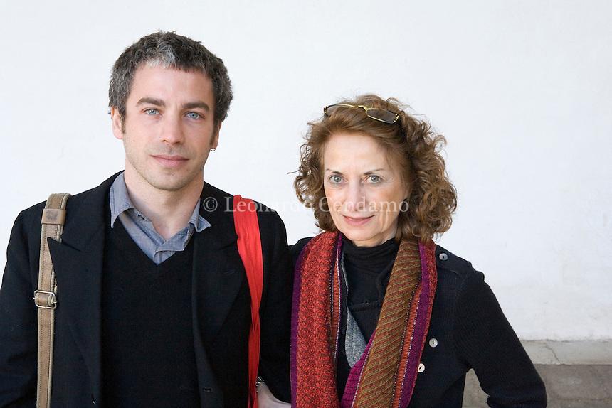 2009 EMILIA LODIGIANI EDITORE IPERBOREA CON IL FIGLIO PIETRO BIANCARDI  © Leonardo Cendamo