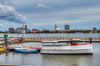 Delawrare River, Waterfront, Penn's Landing, Philadelphia PA; large city; Commonwealth of Pennsylvania;