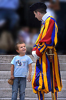 Pontifical Swiss Guard.Pope Francis during his weekly general audience in St. Peter square at the Vatican, Wednesday.May 28, 2014.