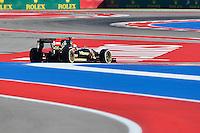 Pastor Maldonado of Lotus F1 Team driving (13) E22, during first practice session of  2014 Formula 1 United States Grand Prix, Friday, October 31, 2014 in Austin, Tex. (Mo Khursheed/TFV Media via AP Images)