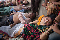 At least 10 people have died, including seven women, in a stampede during the 'Astami snan', the Hindu holy bath in the Old Brahmaputra River, at Langalbandh, Narayanganj, near Dhaka, Bangladesh, March 27, 2015.