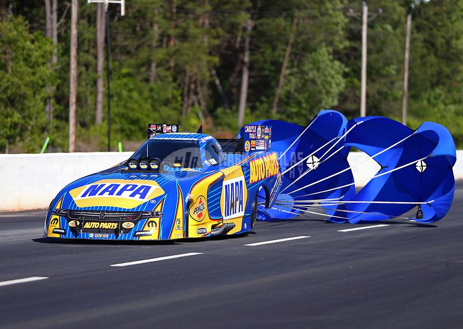 May 7, 2017; Commerce, GA, USA; NHRA funny car driver Ron Capps during the Southern Nationals at Atlanta Dragway. Mandatory Credit: Mark J. Rebilas-USA TODAY Sports