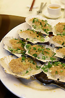 Jakobsmuscheln, Restaurant in Kowloon, Hongkong, China<br /> scallops, Restaurant in Kowloon, Hongkong, China