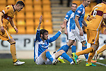St Johnstone v Motherwell&hellip;17.12.16     McDiarmid Park    SPFL<br />Murray Davidson appeals for a foul<br />Picture by Graeme Hart.<br />Copyright Perthshire Picture Agency<br />Tel: 01738 623350  Mobile: 07990 594431