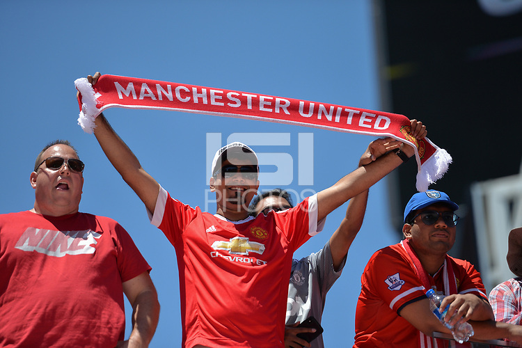 Santa Clara, CA - Sunday July 22, 2018: Manchester United FC fans during a friendly match between the San Jose Earthquakes and Manchester United FC at Levi's Stadium.