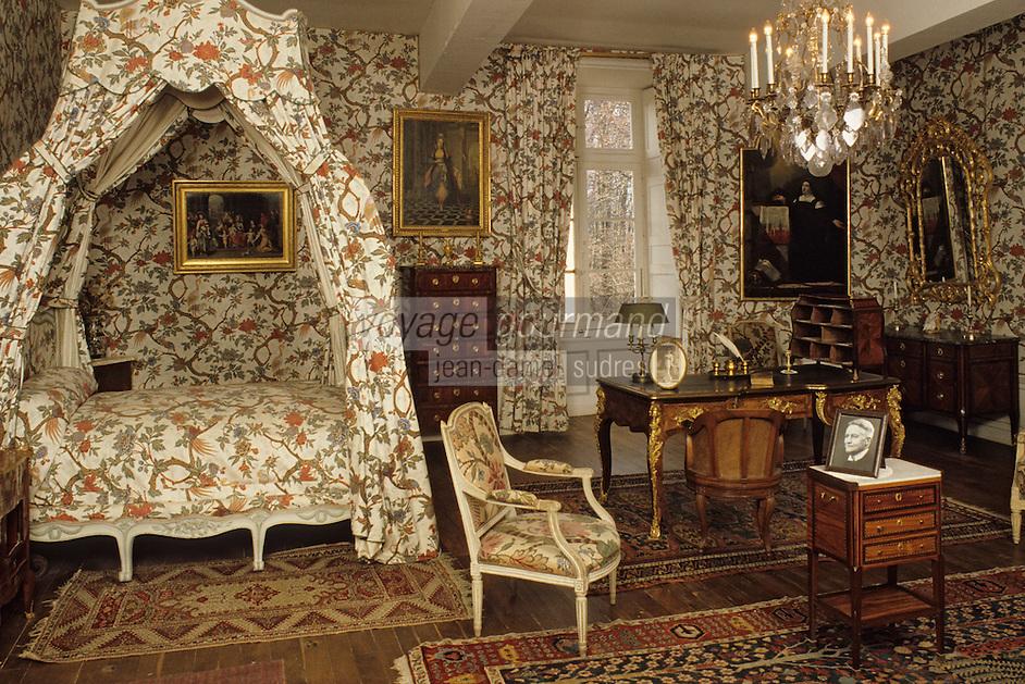 Europe/France/Auverne/63/Puy-de-Dôme/Env. de Courpière: Le château d'Aulteribe - Chambre d'été - Marquise