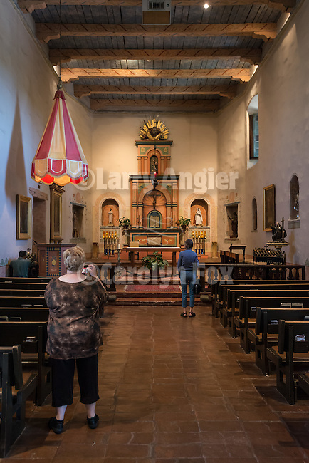 Mission San Diego de Acala, California. First of the Alta California Missions, it was founded by Father Junipero Serra July 16, 1769.<br /> <br /> Chapel interior