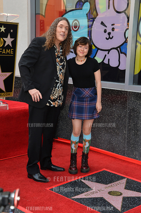LOS ANGELES, CA. August 27, 2018: Weird Al Yankovic & Nina Yankovic at the Hollywood Walk of Fame Star Ceremony honoring 'Weird Al' Yankovic.