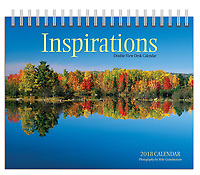 PRODUCT: Calendar<br /> TITLE: Inspirations View Desk 2018<br /> CLIENT: Wyman Publications / Browntrout Canada