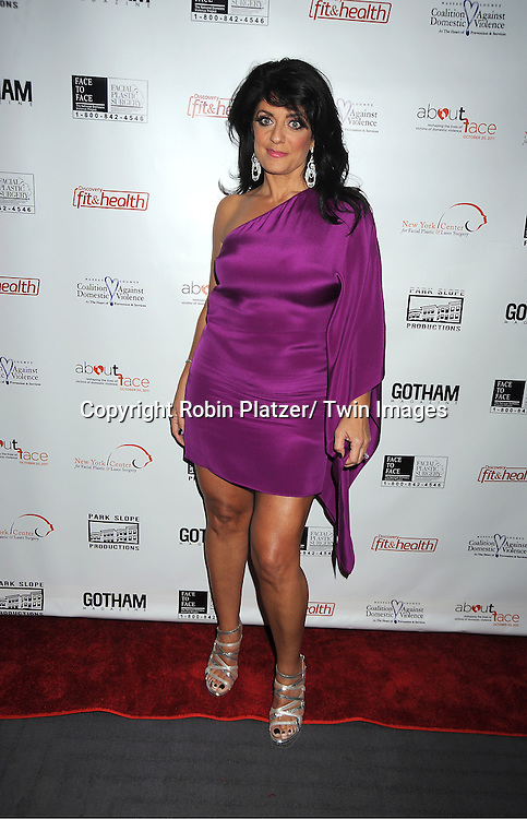 Kathy Wakile of The Real Housewives of New Jersey attend  The About Face Benefit for Domestic Violence Survivors on October 20, 2011 at the Trump Soho Hotel..in New York City.