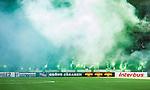 Stockholm 2014-05-24 Fotboll Superettan Hammarby IF - Varbergs BoIS FC  :  <br /> Hammarbys supportrar eldar med bengaliska eldar innan matchen<br /> (Foto: Kenta J&ouml;nsson) Nyckelord:  Superettan Tele2 Arena HIF Bajen Varberg BoIS supporter fans publik supporters