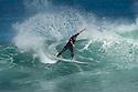 Unknown surfer (BRZ) at Lefties in Gracetown near Margaret River in Western Australia.