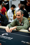 Team Pokerstars Pro Barry Greenstein is all in in the first level of play after being crippled on the previous hand.