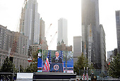 United States President Barack Obama makes remarks at the Commemoration Ceremony at the National September 11 Memorial at the World Trade Center Site at the World Trade Center Site in New York, New York on September 11, 2011.  The President and First Lady are also visiting the Pentagon and the crash site of Flight 93 in Shanksville Pennsylvania in a series of events to commemorate the 10th anniversary of the attacks. .Credit: Kristoffer Tripplaar / Pool via CNP.Credit: Kristoffer Tripplaar / Pool via CNP
