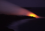 Hawaii Volcanoes National Parkd lava flowing into ocean