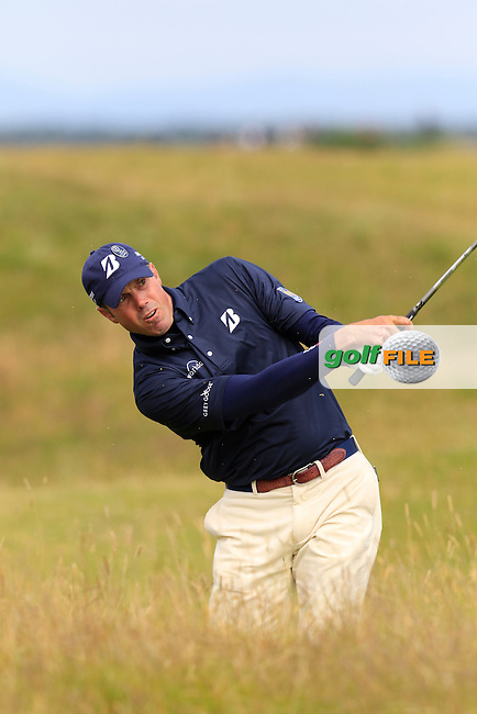 Matt Kuchar (USA) in the rough on the 14th hole during Monday's Final Round of the 144th Open Championship, St Andrews Old Course, St Andrews, Fife, Scotland. 20/07/2015.<br /> Picture Eoin Clarke, www.golffile.ie