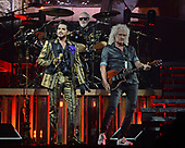 SUNRISE FL - AUGUST 17: Adam Lambert, Brian May and Roger Taylor of Queen + Adam Lambert perform at The BB&T Center on August 17, 2019 in Sunrise, Florida. Photo by Larry Marano © 2019