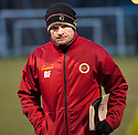 Stenny caretaker manager Brown Ferguson at the end of the game.