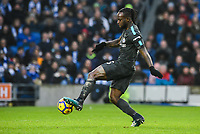 Victor Moses of Chelsea (15) Scores his teams fourth goal of the game  during the Premier League match between Brighton and Hove Albion and Chelsea at the American Express Community Stadium, Brighton and Hove, England on 20 January 2018. Photo by Edward Thomas / PRiME Media Images.