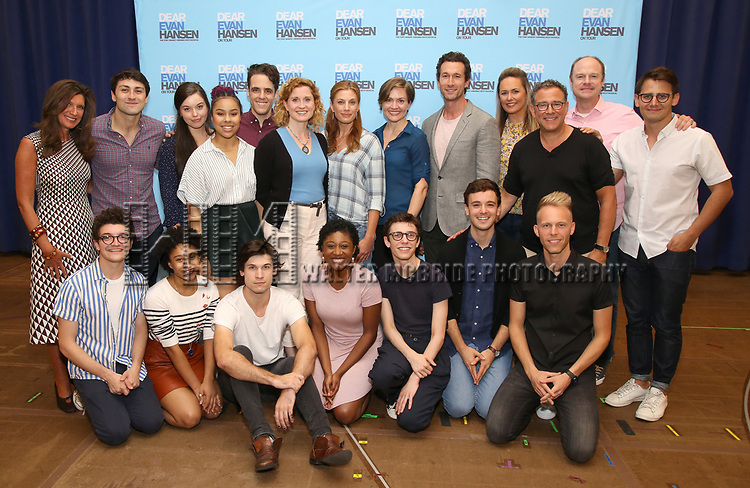 The cast and creative team attend the National Tour Photo Call for 'Dear Evan Hansen' on September 6, 2018 at the New 42nd Street Studios in New York City.
