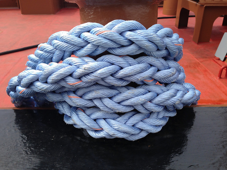 Blue Rope, Castine, Maine, US