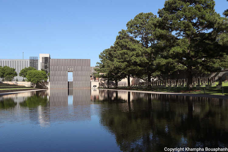 Oklahoma National Memorial, photographed June 6, 2020 at Oklahoma City, Oklahoma. (Photo by Khampha Bouaphanh)