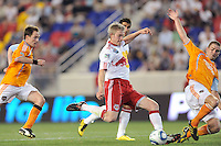 John Wolyniec (15) of the New York Red Bulls. The New York Red Bulls defeated the Houston Dynamo 2-1 during a Major League Soccer (MLS) match at Red Bull Arena in Harrison, NJ, on June 2, 2010.