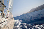Sailing around Cape Corse, ketch Lady Be Good, Corsica, France, Mediterranean Coast, Coastal towns in Corsica,