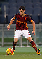 Calcio, Serie A: Roma vs Sampdoria. Roma, stadio Olimpico, 7 febbraio 2016.<br /> Roma&rsquo;s Diego Perotti in action during the Italian Serie A football match between Roma and Sampdoria at Rome's Olympic stadium, 7 January 2016.<br /> UPDATE IMAGES PRESS/Riccardo De Luca