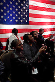 Lexington, South Carolina.January 22, 2008 ..Supports for listen as Presidential hopeful Sen. Barack Obama (D-IL) speaks at a Town Hall meeting. Obama is campaigning through the state ahead of its Democratic primary on January 26..