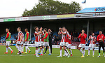 Players clap the fans during the English League One match at Glanford Park Stadium, Scunthorpe. Picture date: September 24th, 2016. Pic Simon Bellis/Sportimage
