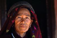 NEPALI woman in Siklis village - NEPAL HIMALAYA
