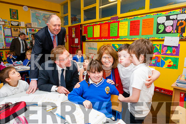 Joan Burton visit to CBS Primary Tralee on Thursday. Pictured