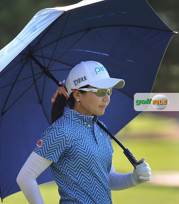 24JUL15  Ayako Uehara during Friday's Second Round of The Meijer LPGA Classic at The Blythefield Country Club in Belmont, Michigan. (photo credit : kenneth e. dennis/kendennisphoto.com)