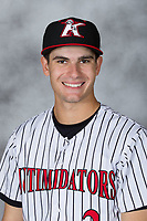 Kannapolis Intimidators pitcher Dylan Cease (2) poses for a photo prior to the game against the West Virginia Power at Kannapolis Intimidators Stadium on July 20, 2017 in Kannapolis, North Carolina.  The Power defeated the Intimidators 6-5.  (Brian Westerholt/Four Seam Images)