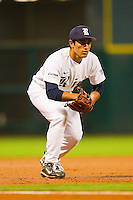 Third baseman Daniel Gonzales-Luna #1 of the Rice Owls on defense against the Kentucky Wildcats at Minute Maid Park on March 4, 2011 in Houston, Texas.  Photo by Brian Westerholt / Four Seam Images