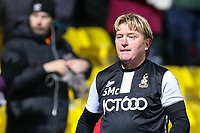 A disappointed Stuart McCall after Bradford City lose against Northampton Town during the Sky Bet League 1 match between Bradford City and Northampton Town at the Northern Commercial Stadium, Bradford, England on 13 January 2018. Photo by Thomas Gadd.