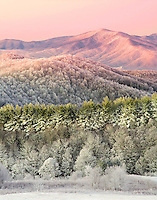 """APPALACHIAN WINTER"" -- A layered winter sunrise from the summit of Max Patch mountain near Hot Springs, North Carolina in the southern Appalachian mountains."
