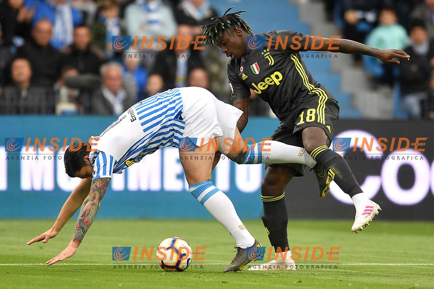 Kevin Bonifazi of SPAL, Moise Kean of Juventus <br /> Ferrara 13-4-2019 Stadio Paolo Mazza Football Serie A 2018/2019 SPAL - Juventus <br /> Foto Andrea Staccioli / Insidefoto