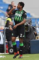 Marlon of Sassuolo celebrates after scoring a goal <br /> Reggio Emilia 28-10-2018 Stadio del Tricolore Bentegodi, Football Calcio Serie A 2018/2019 Sassuolo - Bologna  <br /> Foto Daniele Buffa / Image Sport / Insidefoto