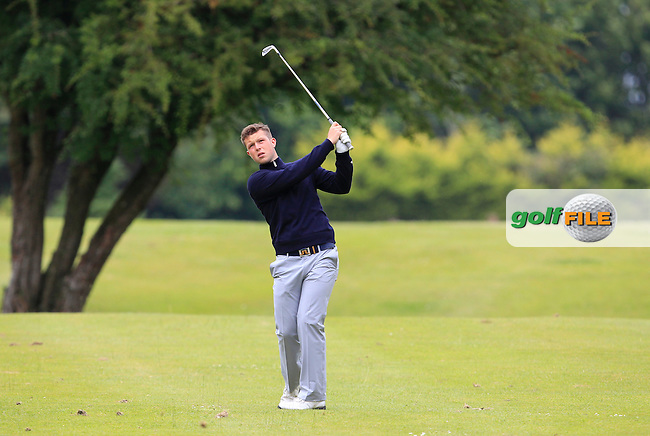 Thomas Murray (England) on the 1st fairway during Round 3 of the Irish Boys Amateur Open Championship at Tuam Golf Club on Thursday 25th June 2015.<br /> Picture:  Thos Caffrey / www.golffile.ie