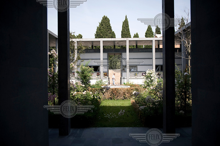 A new piece by architect David Chipperfield in the Cimitero cemetery on San Michele Island in Venice.
